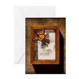 Monarch butterfly escaping display c Greeting Card
