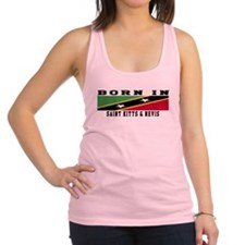 Born In Saint Kitts & Nevis Racerback Tank Top