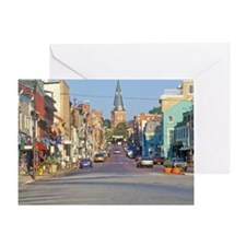 """""""Downtown Annapolis, Maryland"""" Greeting Card"""