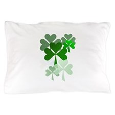 Faded Shamrocks-Trans Pillow Case