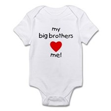 My big brothers love me Infant Bodysuit