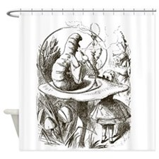 Alice in Wonderland Caterpillar Shower Curtain