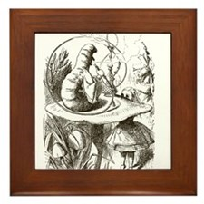 Alice in Wonderland Caterpillar Framed Tile