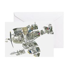 Disassembled parts of Spitfire plane Greeting Card