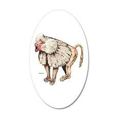 Baboon Ape Monkey 20x12 Oval Wall Decal