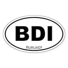 Burundi Oval Decal