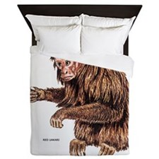 Red Uakari Monkey Queen Duvet