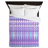 Purple Aztec, Queen Duvet