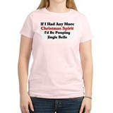 Christmas Spirit Women's Pink T-Shirt