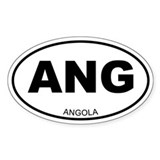 Angola Oval Decal