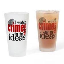 Crime Show Ideas Drinking Glass