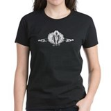 Gothic Ballerina Women's White on Dark T-Shirt
