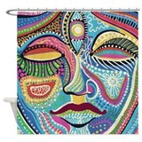 Colorful Mystic Face Shower Curtain