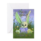 Goddaughter Easter Bunny Spring Greeting Card With
