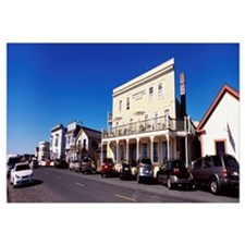 Cars parked in front of buildings, Mendocino, Cali