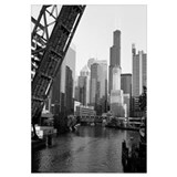 Drawbridge on a river, Chicago River, Chicago, Coo