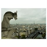 Gargoyle statue at a cathedral, Notre Dame, Paris,
