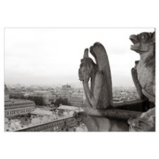 Gargoyle statues at a cathedral, Notre Dame, Paris