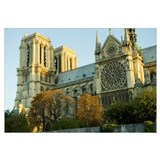 Low angle view of a cathedral, Notre Dame, Paris,
