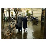 People walking in the street, Jewish Quarter, Le M