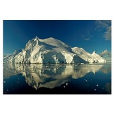 Reflection of a glacier in water, Antarctic Penins