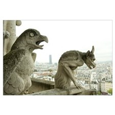 Statues at a cathedral, Notre Dame, Paris, Ile-De-