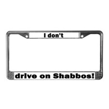 Cute Shabbat License Plate Frame
