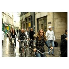 Women cycling in the street, Jewish Quarter, Le Ma