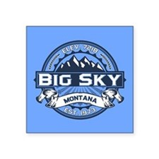 "Big Sky Blue Square Sticker 3"" x 3"""