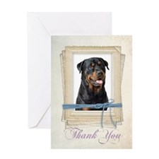 Rottie Thank You Greeting Card