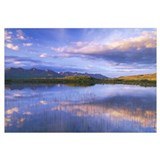 Small Lake In The Evening, Alaska Range, Interior,