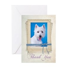 Westie Thank You Card