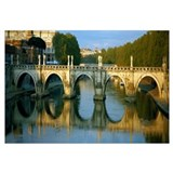 Arch bridge across a river, Ponte Sant Angelo, Tib