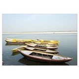 Boats in a river, Ganges River, Varanasi, Uttar Pr