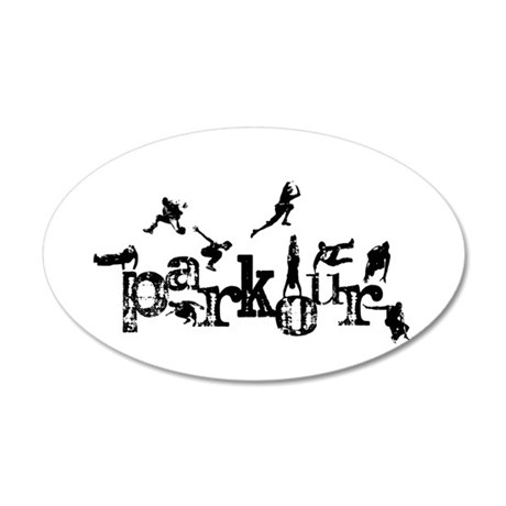 Parkour 20x12 Oval Wall Decal