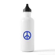 Blue Peace Sign Water Bottle