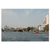 City at the waterfront, Chao Phraya River, Bangkok