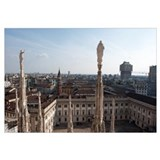City viewed from Duomo Di Milano, Milan, Lombardy,