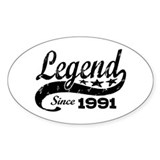 Legend Since 1991 Decal