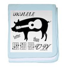 Ukulele Better Than Bacon baby blanket