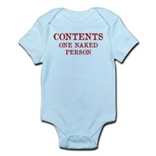 Contents One Naked Person Infant Bodysuit