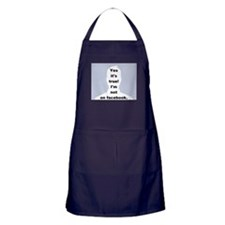 Yes it's true! I'm not on facebook. Apron (dark)