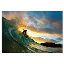 Hawaii, Maui, Makena - Big Beach, Skimboarder Carv