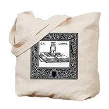 Ex Libris Cat and Book Tote Bag
