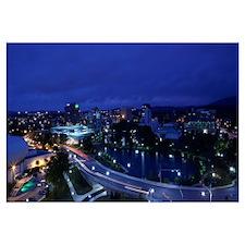 High angle view of a city, Big Spring Park, Huntsv