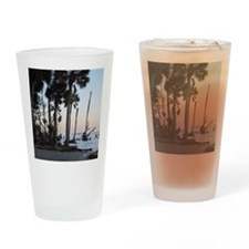 Tropical Beach - Hunting Island, SC Drinking Glass