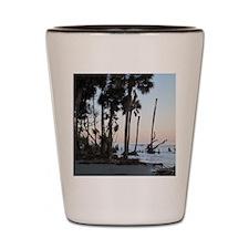 Tropical Beach - Hunting Island, SC Shot Glass