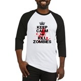 Keep Calm Kill Zombies Baseball Jersey