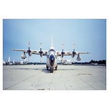 Lockheed C-130 Hercules on an airport
