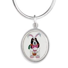Basset Hound Easter Bunny Necklaces